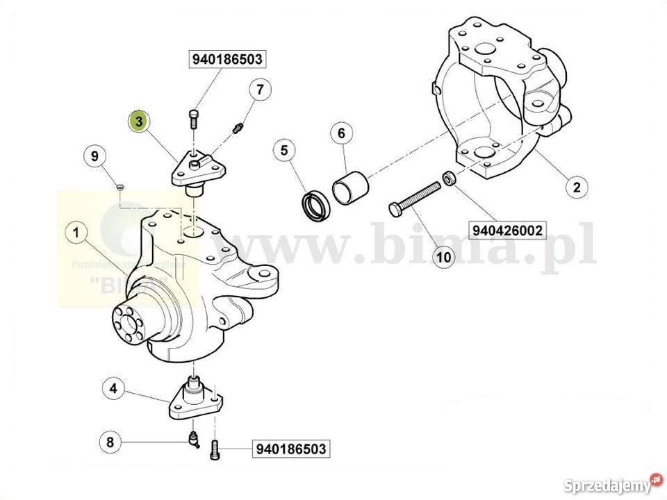 Sworzeń przegubu części do ciągników Case IH MX 120,135,80