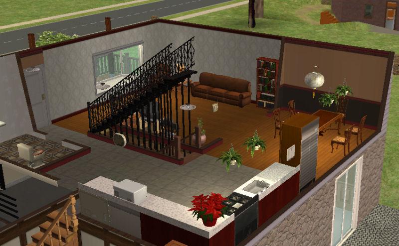Mod The Sims Split Level With Walkout Basement 107k
