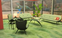 Mod The Sims - TS2 to TS4 - 60s Living Room Set