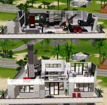 Mod Sims - Modern Villa 3 Beach