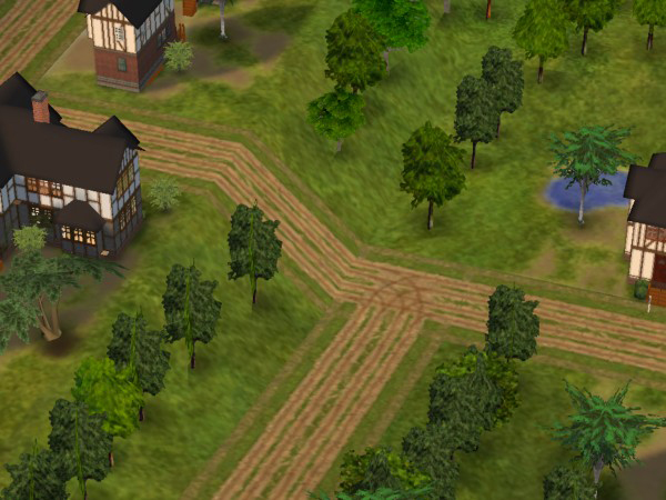 Mod The Sims Wagon Rut Roads Terrain Replacements For