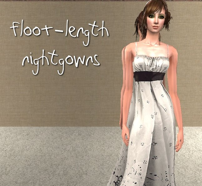 Mod The Sims  floorLength Nightgowns