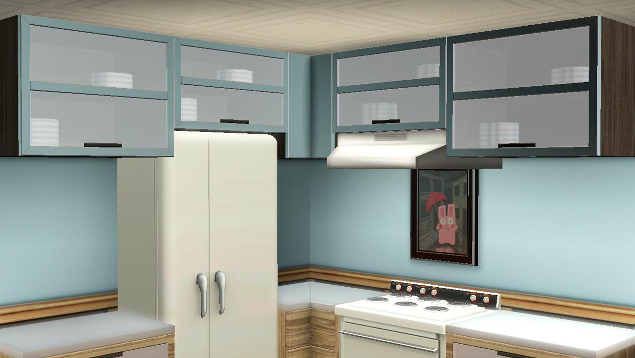 Mod The Sims  Maxis Match  Kitchen Cabinets updated for