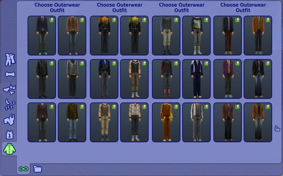 Mod The Sims  More Maxis Everyday Clothes As Outerwear