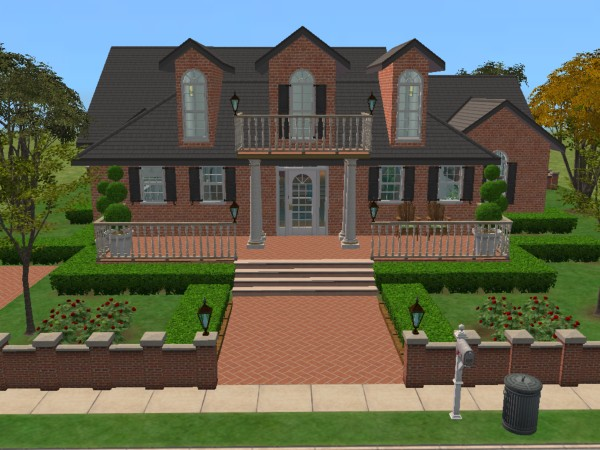 "Mod The Sims ""Colonial Classical Charm"" Fully Furnished No Custom"