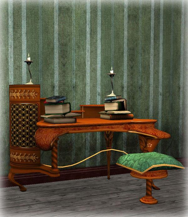 Mod The Sims Art Nouveau Study Set The Dressing Table