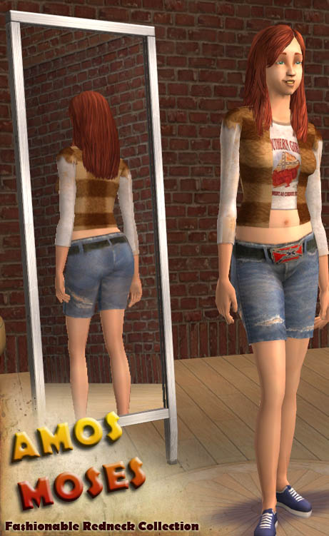 Mod The Sims  Redneck Outfit 3 3 colors