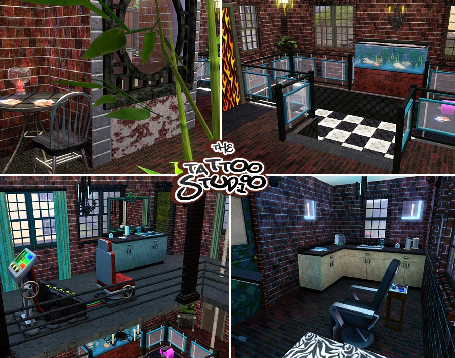 Mod The Sims  The Tattoo Studio  Community Lot