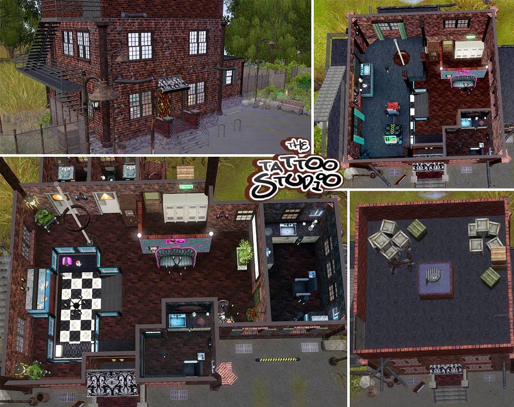 Mod The Sims  The Tattoo Studio  Community Lot