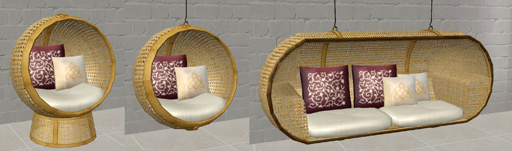 Mod The Sims  JS Round Chair and Bonnies Loveseat