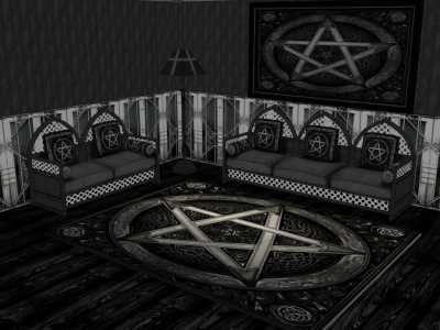 gothic living room mini bar design for the mod sims dark x