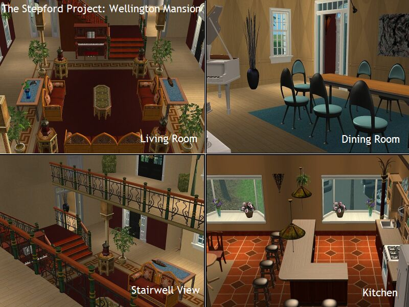 Mod The Sims The Stepford Project I 2 Mansions By DDI