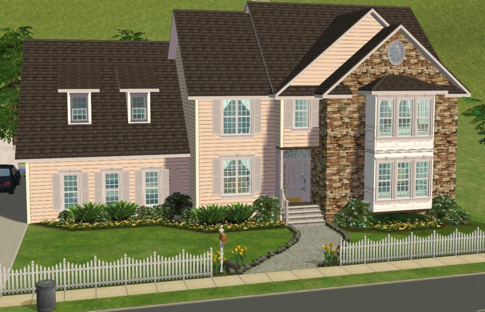 Sims 3 5 bedroom house for Sims 3 6 bedroom house