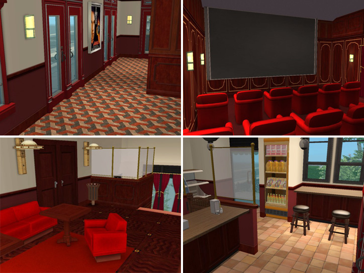 Mod The Sims  Backdoor Lane 39  Oldfashioned Movie Theatre  Cafe