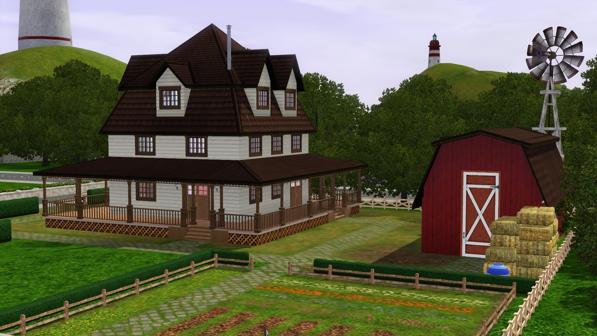 Must have gorgeous sims 3 houses and villas sims 3 mod for Traditional farmhouse