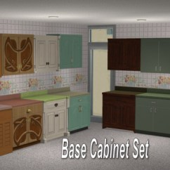 Kitchen Cabinets Set Narrow Cart Mod The Sims Full Of Maxis Match Wall Updated X