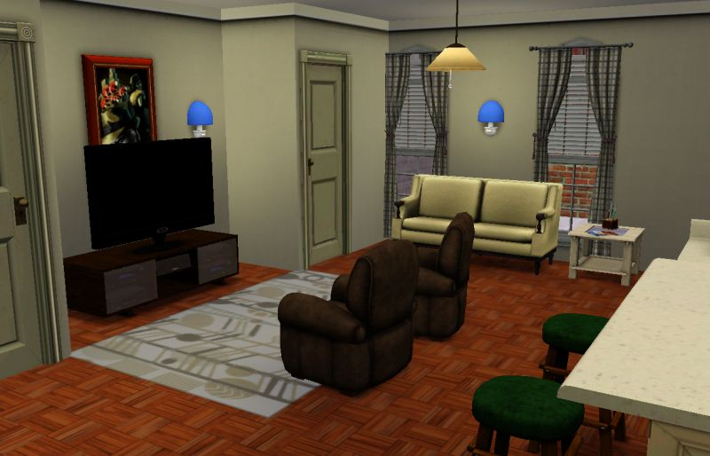 Mod The Sims  FRIENDS Project The Apartments