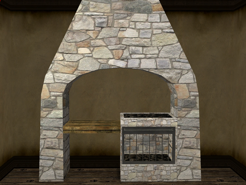 Mod The Sims  Eds Medieval Stone Hearth Updated and 20