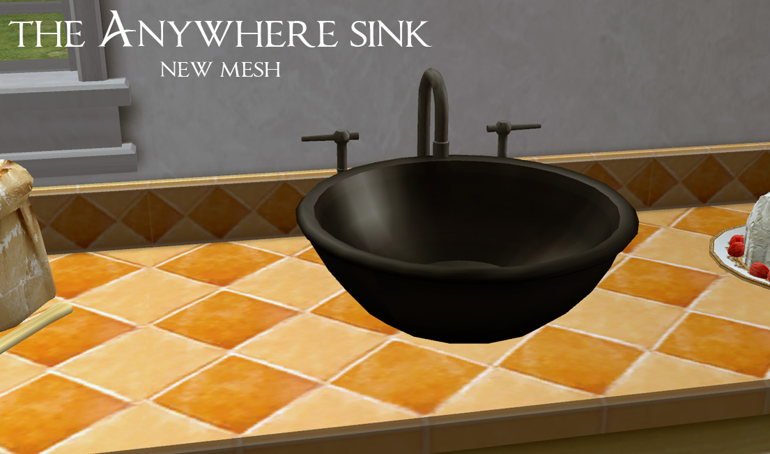 Mod The Sims  The Anywhere Sink