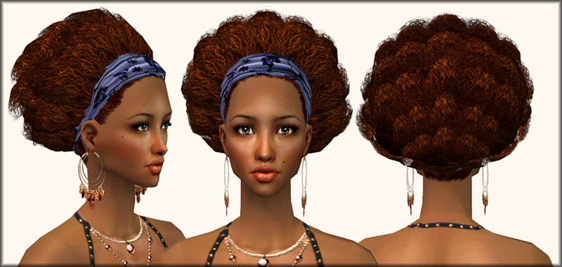 Mod The Sims Afro Hairband An Afro Hairdo For Our