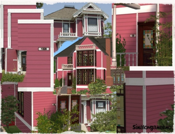 Mod The Sims  Halliwell Manor Exterior Walls with extra