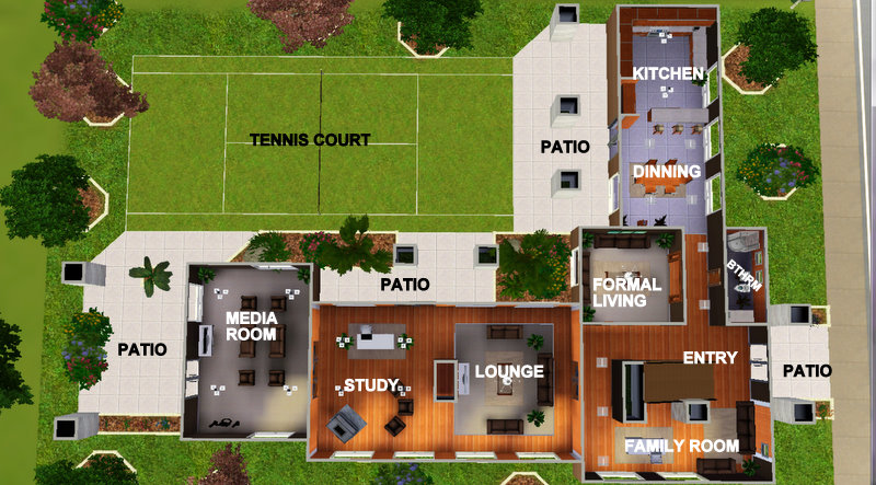 Mod The Sims The Modest Design 'A Upper Middle Class Home' Series