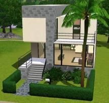 Sims 3 Small Modern House Plan