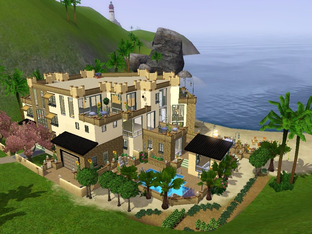 Mod The Sims Modern House With A View