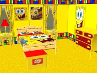 Mod The Sims - Complete SpongeBob Bedroom Set!