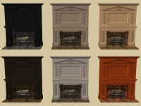Mod The Sims - HL's Colonial Fireplace in Pooklet Colours
