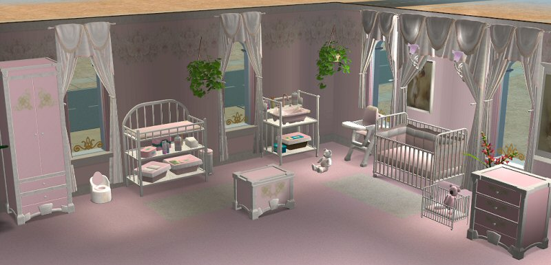Mod The Sims Continuation Of MarblePink Set Nursery