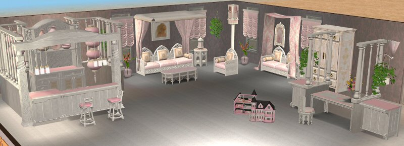Marvelous Mod The Sims Continuation Of Marble Pink Set Living Room Part 21