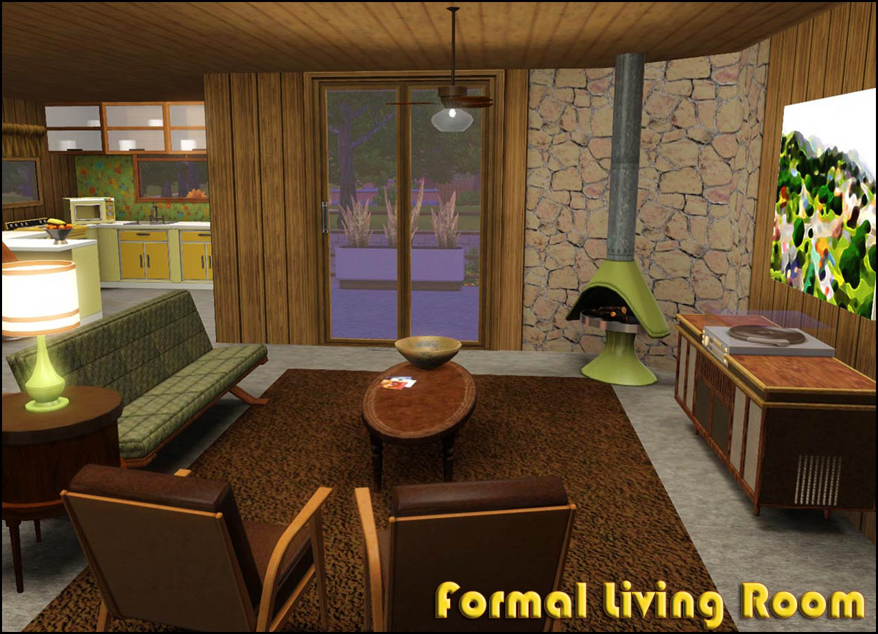 Mod The Sims  Retro Realty  70s Modern Family Home