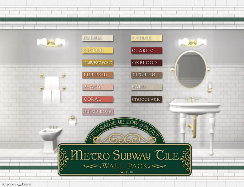 mod the sims metro subway tile walls