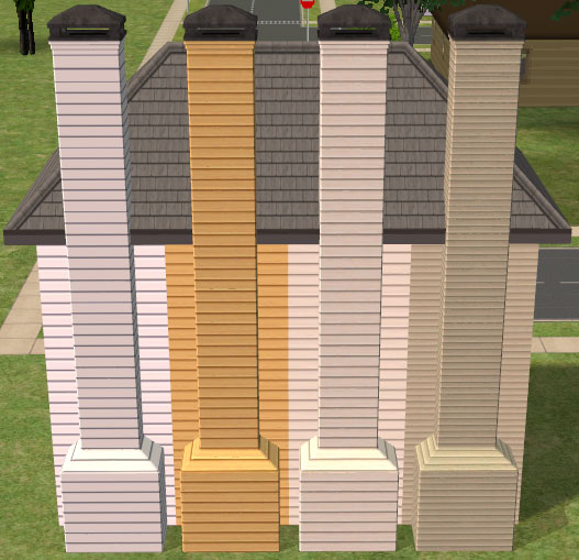 Mod The Sims  Chimney Recolors Simply Siding Set