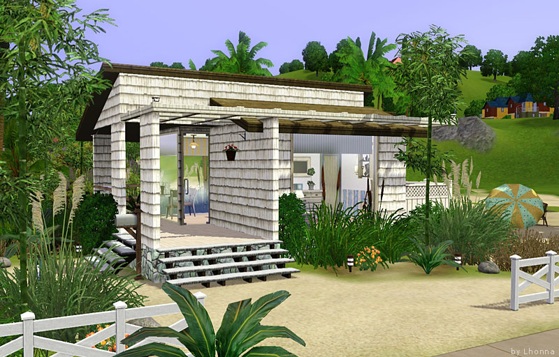 Mod The Sims Beach Cabin Small Beach House For Single Sim