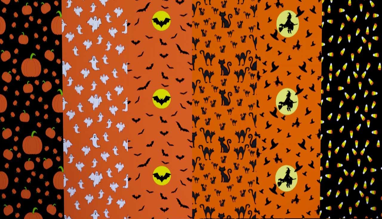 Cute Halloween Bat Wallpaper Mod The Sims Halloween Pattern Pack