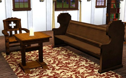 Mod The Sims Medieval Living Room Set Sims 2 Conversion