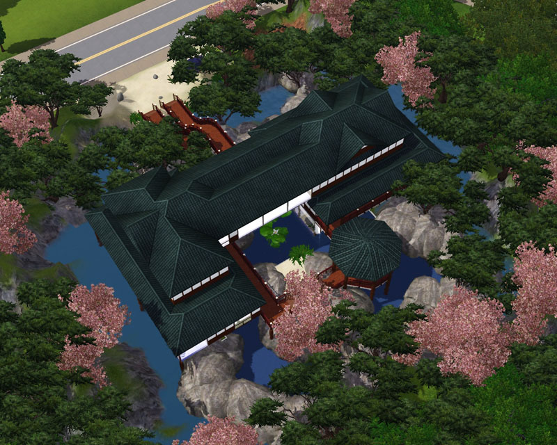 Mod The Sims  Japanese Lake Retreat