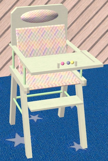 Mod The Sims  Luxury Highchair new mesh  3 recolours