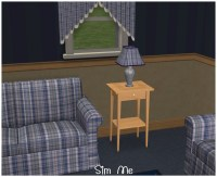 Mod The Sims - Blue Checkered Living Room