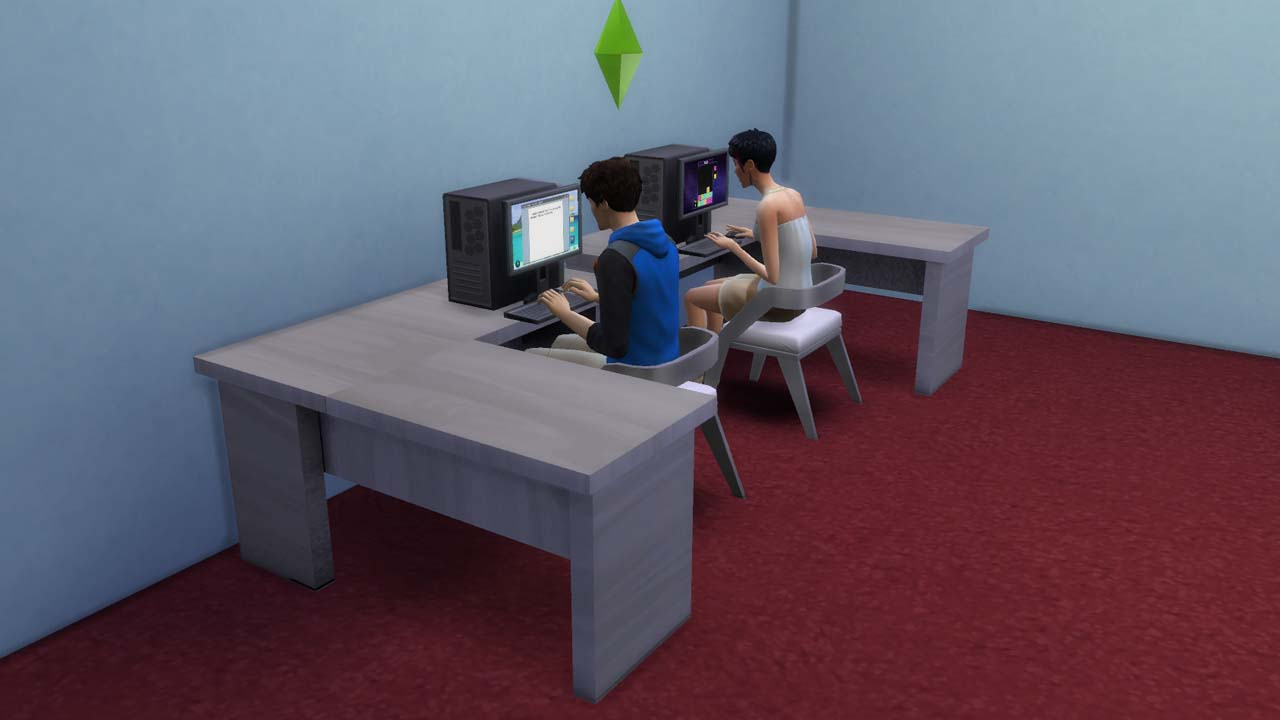 Mod The Sims  L desk Update 1062015 added mirrored