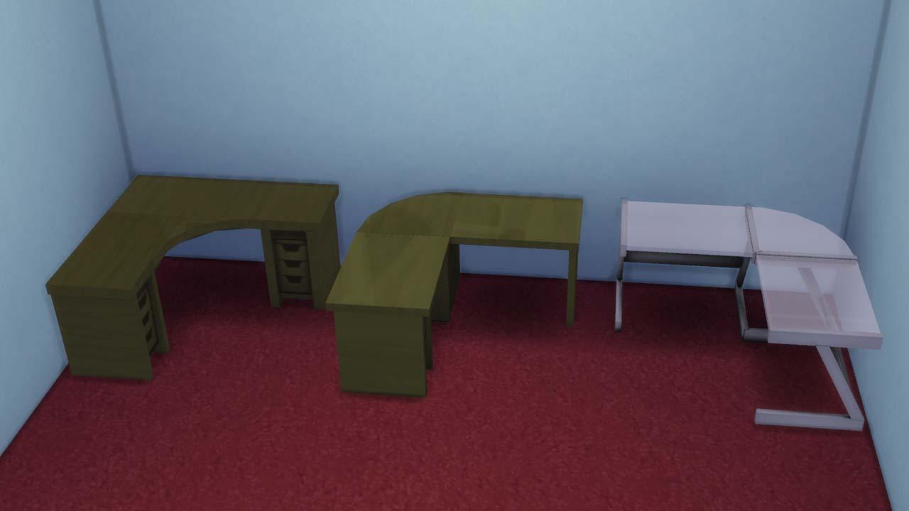 Mod The Sims  Necros set of L desks three original and
