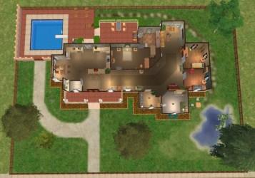 story sims plans bedroom three floor single modern plan modthesims mods mod traditional custom