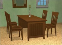 Mod The Sims - Basic Dining Table by Leefish in 12 iCad Colors