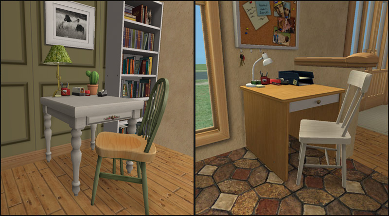 Mod The Sims  OneTile Desks  Variety Pack