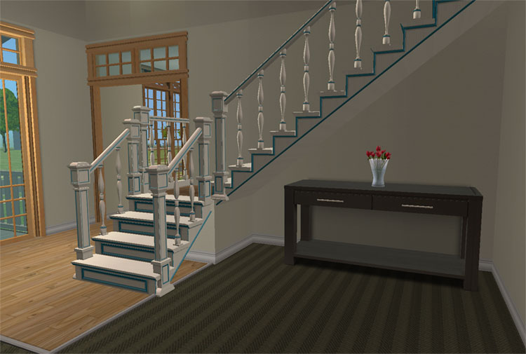 Mod The Sims  Maxis Open Recolorable Stairs  Slaves