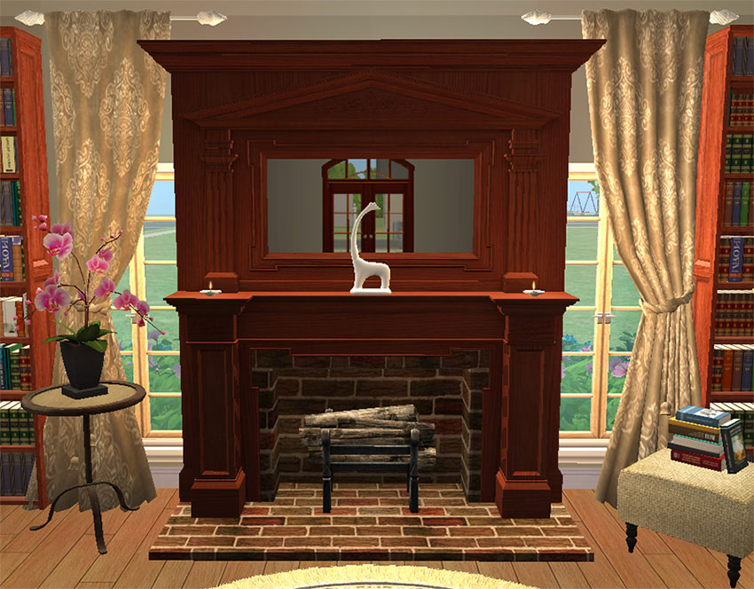 Mod The Sims  Colonial Fireplace  TS3 Conversion