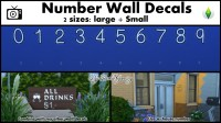 Mod The Sims - Number Wall Decals Pack