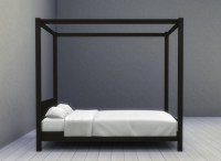 Mod The Sims - Modern Four-Poster Double Bed